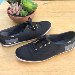 Keds Taylor Swift black cat shoes sz 8.5